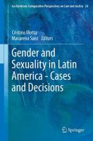 Cover image for Gender and Sexuality in Latin America - Cases and Decisions