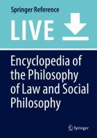Cover image for Encyclopedia of the Philosophy of Law and Social Philosophy