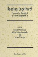 Cover image for Reading Engelhardt Essays on the Thought of H. Tristram Engelhardt, Jr.