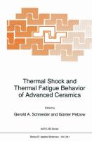 Cover image for Thermal Shock and Thermal Fatigue Behavior of Advanced Ceramics