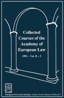 Cover image for Collected Courses of the Academy of European Law / Recueil des cours de l'Académie de droit européen 1991 The Protection of Human Rights in Europe Vol. II Book 2