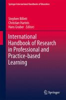 Cover image for International Handbook of Research in Professional and Practice-based Learning