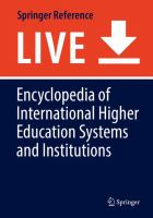 Cover image for Encyclopedia of International Higher Education Systems and Institutions