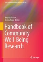 Cover image for Handbook of Community Well-Being Research