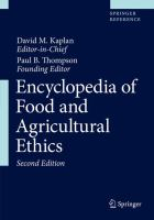 Cover image for Encyclopedia of Food and Agricultural Ethics