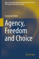 Cover image for Agency, Freedom and Choice