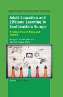 Cover image for Adult Education and Lifelong Learning in Southeastern Europe
