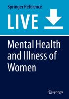 Cover image for Mental Health and Illness of Women
