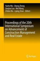 Cover image for Proceedings of the 20th International Symposium on Advancement of Construction Management and Real Estate