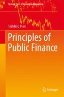 Cover image for Principles of Public Finance