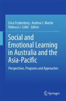 Cover image for Social and Emotional Learning in Australia and the Asia-Pacific Perspectives, Programs and Approaches