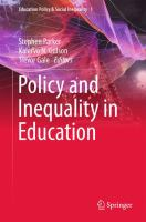 Cover image for Policy and Inequality in Education