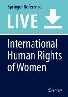Cover image for International Human Rights of Women