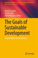 Cover image for The Goals of Sustainable Development Responsibility and Governance