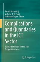 Cover image for Complications and Quandaries in the ICT Sector Standard Essential Patents and Competition Issues