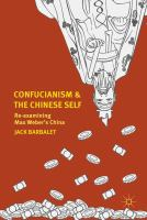 Cover image for Confucianism and the Chinese Self Re-examining Max Weber's China