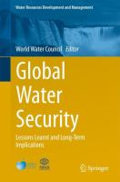 Cover image for Global Water Security Lessons Learnt and Long-Term Implications.