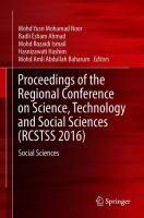 Cover image for Proceedings of the Regional Conference on Science, Technology and Social Sciences (RCSTSS 2016)  Social Sciences