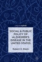Cover image for Social & Public Policy of Alzheimer's Disease in the United States