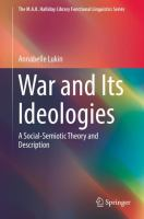 Cover image for War and Its Ideologies A Social-Semiotic Theory and Description