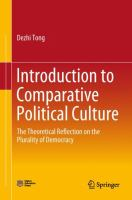 Cover image for Introduction to Comparative Political Culture The Theoretical Reflection on the Plurality of Democracy