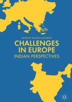 Cover image for Challenges in Europe Indian Perspectives