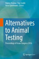 Cover image for Alternatives to Animal Testing Proceedings of Asian Congress 2016
