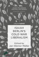 Cover image for Isaiah Berlin's Cold War Liberalism