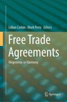 Cover image for Free Trade Agreements Hegemony or Harmony