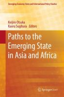 Cover image for Paths to the Emerging State in Asia and Africa