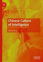 Cover image for Chinese Culture of Intelligence