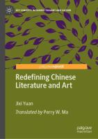 Cover image for Redefining Chinese Literature and Art