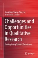 Cover image for Challenges and Opportunities in Qualitative Research Sharing Young Scholars' Experiences