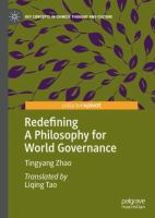 Cover image for Redefining A Philosophy for World Governance