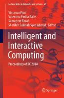 Cover image for Intelligent and Interactive Computing Proceedings of IIC 2018