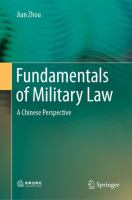 Cover image for Fundamentals of Military Law A Chinese Perspective