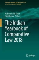 Cover image for The Indian Yearbook of Comparative Law 2018