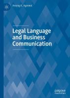 Cover image for Legal Language and Business Communication