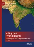 Cover image for Voting in a Hybrid Regime Explaining the 2018 Bangladeshi Election