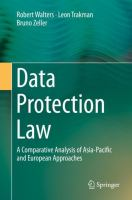 Cover image for Data Protection Law A Comparative Analysis of Asia-Pacific and European Approaches