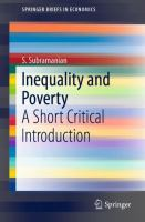 Cover image for Inequality and Poverty A Short Critical Introduction