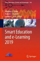 Cover image for Smart Education and e-Learning 2019