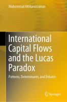 Cover image for International Capital Flows and the Lucas Paradox Patterns, Determinants, and Debates
