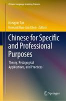Cover image for Chinese for Specific and Professional Purposes Theory, Pedagogical Applications, and Practices