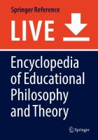 Cover image for Encyclopedia of Educational Philosophy and Theory
