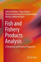 Cover image for Fish and Fishery Products Analysis A Theoretical and Practical Perspective