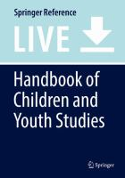 Cover image for Handbook of Children and Youth Studies