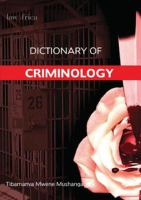 Cover image for Dictionary of Criminology
