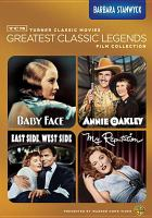 Cover image for Turner Classic Movies greatest classic legends film collection. Barbara Stanwyck