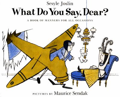 Cover image for What do you say, dear?